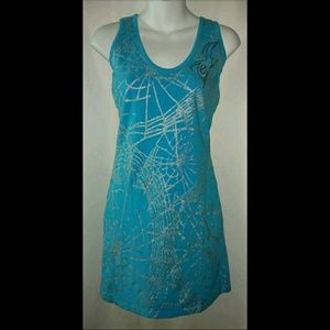 Vintage Pepe Jeans Spider Webs Dress 90's Goth NWT